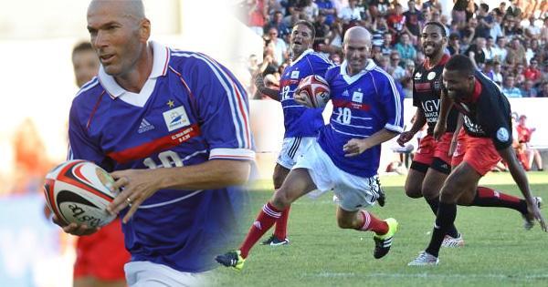 VIDÉO. Zinedine Zidane, le rugbyman