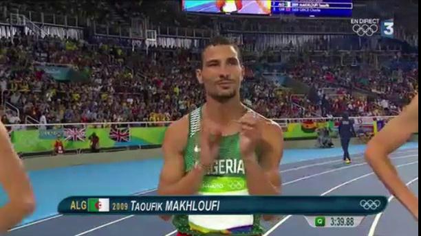 JO 2016: Taoufik Makhloufi offre une deuxième médaille à l'Algérie