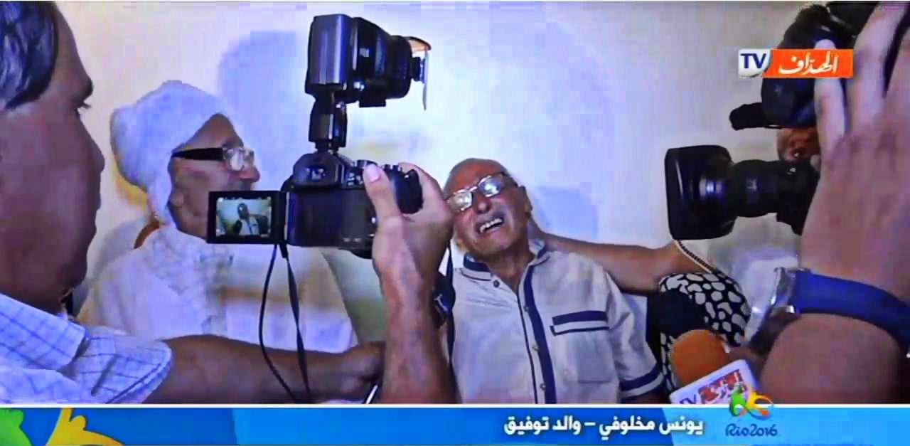 VIDÉO. JO 2016: le père de Taoufik Makhloufi exprime sa joie et son émotion