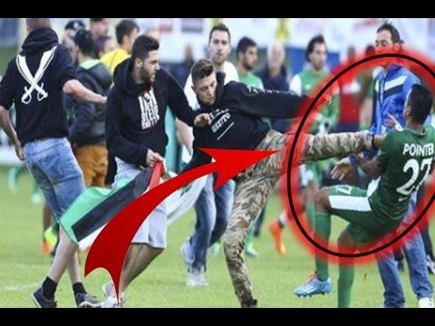 VIDÉO. CAN 2017 : un supporteur algérien tente d'agresser Islam Slimani